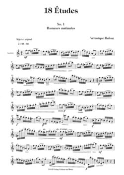 Véronique Dufour - 18 Studies - Sheet Music - di-arezzo.co.uk
