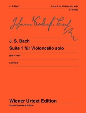 Suite N°1 - BACH - Partition - Violoncelle - laflutedepan.com