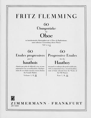 Fritz Flemming - 60 Ubungsstücke Für Oboe - Volume 3 - Sheet Music - di-arezzo.co.uk