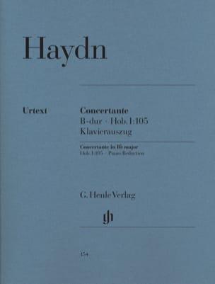 Concertante B-Dur Hob. 1 : 105 HAYDN Partition laflutedepan
