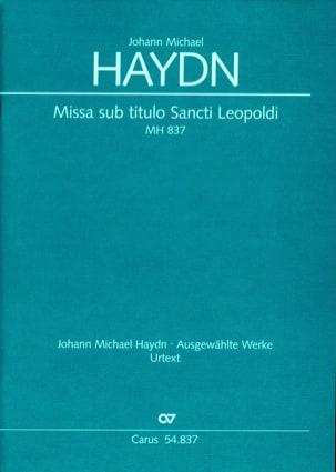 Missa sub titulo Sancti Leopoldi MH 837 - conducteur laflutedepan