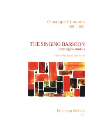 Giuseppe Concone - The Singing Bassoon - Partition - di-arezzo.fr