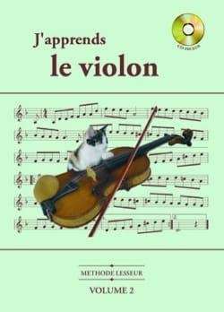 J' Apprends le Violon Volume 2 - Olivier Lesseur - laflutedepan.com