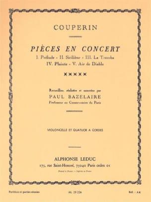 Couperin François / Bazelaire Paul - Pièces en Concert -conducteur + Parties - Partition - di-arezzo.fr