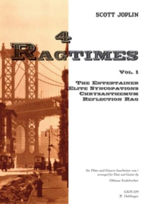 4 Ragtimes - Volume 1 -Flöte Gitarre JOSPLIN Partition laflutedepan