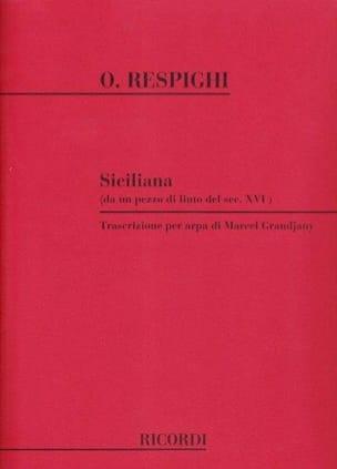 Siciliana -Arpa - Ottorino Respighi - Partition - laflutedepan.com