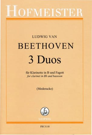 BEETHOVEN - 3 Duos - Sheet Music - di-arezzo.co.uk