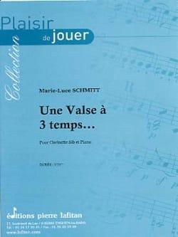 Une Valse A 3 Temps... Marie-Luce Schmitt Partition laflutedepan