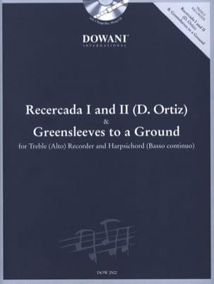 Recercada 1 et 2 Ortiz - Greensleeves - Treble recorder Harpsichord laflutedepan