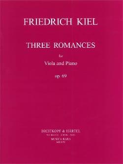 3 Romances Op.69 Friedrich Kiel Partition Alto - laflutedepan