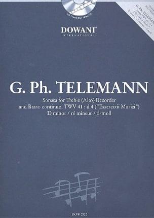 TELEMANN - Sonata in D min. TWV 41 : d4 -Treble recorder Bc - Partition - di-arezzo.fr