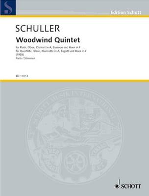 Woodwind Quintet -Parts Gunther Schuller Partition laflutedepan