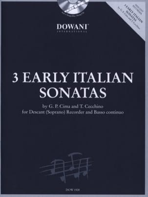 Cima Giovanni Paolo / Cecchino Tomaso - 3 Early italians Sonatas –Descant recorder Bc - Partition - di-arezzo.fr