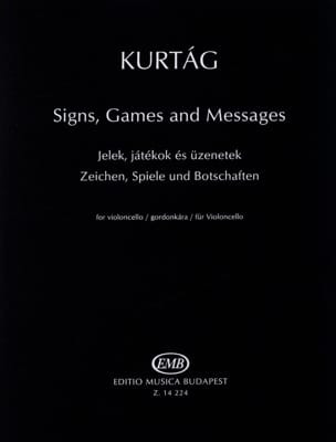 Signs, Games And Messages - György Kurtag - laflutedepan.com