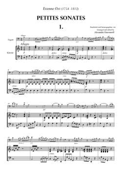 Etienne Ozi - 6 Petites Sonates à 2 Bassons Volume 1 - Partition - di-arezzo.fr
