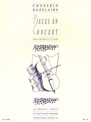 Couperin François / Bazelaire Paul - Concert pieces - Sheet Music - di-arezzo.co.uk