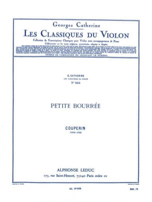 Couperin François / Catherine Georges - Petite bourrée - Partition - di-arezzo.fr