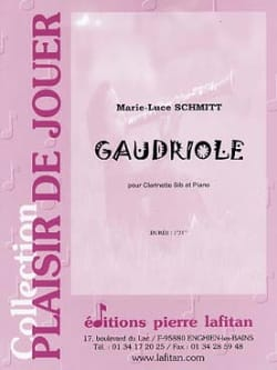 Marie-Luce Schmitt - Gaudriole - Partition - di-arezzo.fr