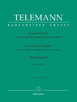 Georg Philipp Telemann - Concerto 3 Violons - Partition - di-arezzo.fr