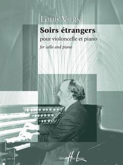 Soirs étrangers Louis Vierne Partition Violoncelle - laflutedepan