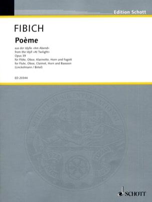 Poème Opus 39 Zdenek Fibich Partition Quintettes - laflutedepan