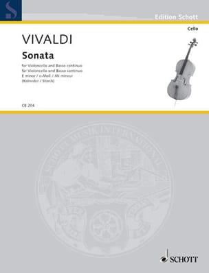 Antonio Vivaldi - Sonate En Mi Min. - Partition - di-arezzo.fr