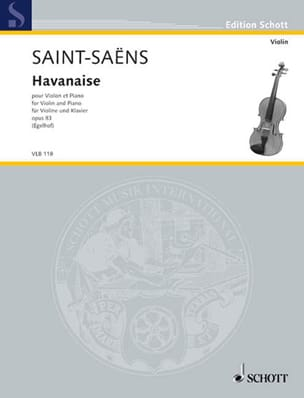 Camille Saint-Saëns - Havanese Op.83 - Sheet Music - di-arezzo.co.uk