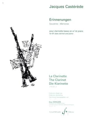 Erinnerungen - Jacques Castérède - Partition - laflutedepan.com