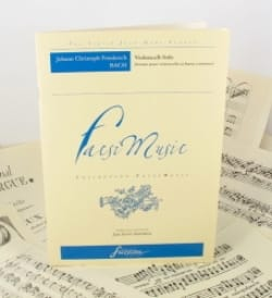 Johann Christoph Friedrich Bach - Sonate pour Violoncelle et Basse Continue - Partition - di-arezzo.fr