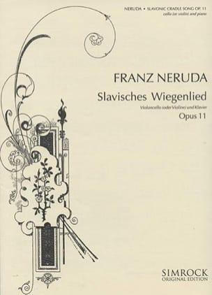 Franz Neruda - Berceuse Slave Op.11 - Partition - di-arezzo.fr