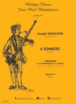 Joseph Saggione - 6 Sonatas Volume 2 - Sheet Music - di-arezzo.com