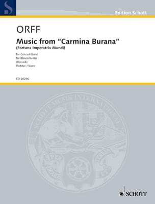 Carl Orff - Music From Carmina Burana - Partition - di-arezzo.fr