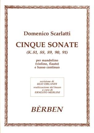 Cinque Sonates K.81. 88. 89. 90. 91 - SCARLATTI - laflutedepan.com