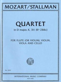 Mozart Wolfgang Amadeus / Stallman - Quatuor K.311 En Ré Maj. - Partition - di-arezzo.fr