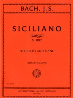 BACH - Siciliano Largo S.1017 - Partition - di-arezzo.fr