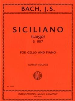 Siciliano Largo S.1017 BACH Partition Violoncelle - laflutedepan