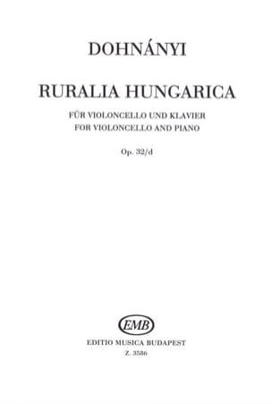 Ruralia Hungarica DONHANYI Partition Violoncelle - laflutedepan