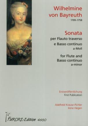 Sonate En la Mineur - Bayreuth Wilhelmine Von - laflutedepan.com