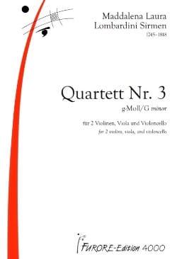 Quatuor N°3 En Sol Min. - laflutedepan.com
