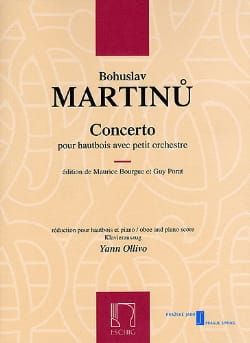 Bohuslav Martinu - Concerto for Oboe and Small Orchestra - Sheet Music - di-arezzo.co.uk