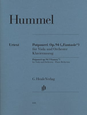 HUMMEL - Potpourri Fantasy op. 94 for viola and orchestra - Sheet Music - di-arezzo.com