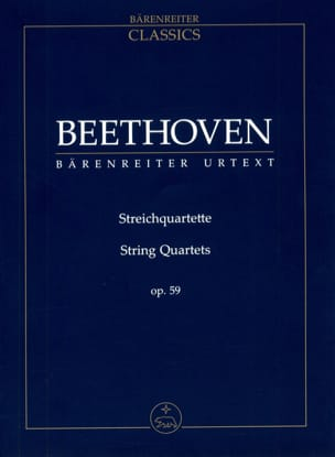 Ludwig van Beethoven - Streichquartette Op. 59 - Partition - di-arezzo.fr