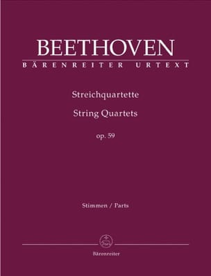 BEETHOVEN - Streichquartette Op. 59 - Partition - di-arezzo.co.uk