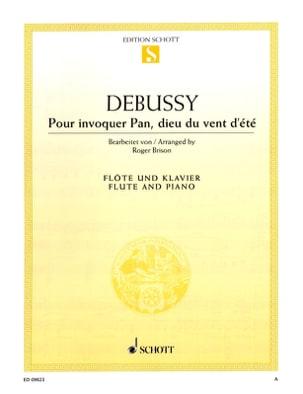 Claude Debussy - Pour Invoquer Pan, Dieu Du Vent D'été - Partition - di-arezzo.fr
