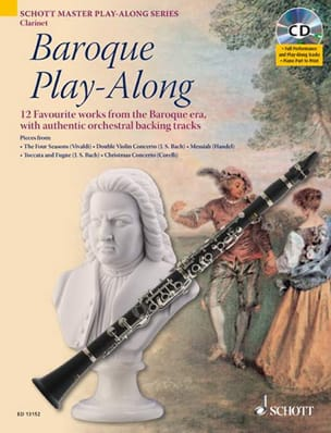 Clarinet Baroque Play-Along Partition Clarinette - laflutedepan