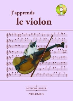 J'Apprends le Violon Volume 3 Lesseur Partition Violon - laflutedepan