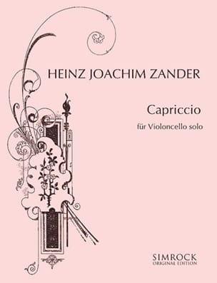 Capriccio - Heinz Joachim Zander - Partition - laflutedepan.com