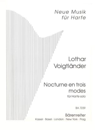 Lothar Voigtländer - Nocturne in three modes - Solo Harfe - Sheet Music - di-arezzo.co.uk