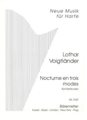 Lothar Voigtländer - Nocturne en trois modes –Harfe solo - Partition - di-arezzo.fr