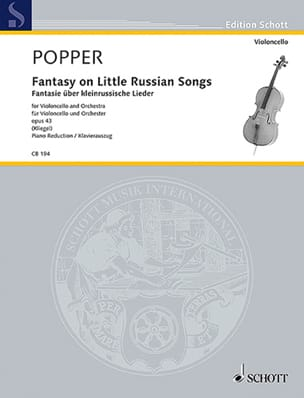 David Popper - Fantasy On Little Russian Songs Op.43 - Partition - di-arezzo.fr